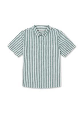 아동) 린넨코튼 반팔 셔츠 (GNP)