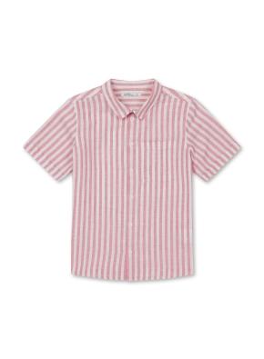 아동) 린넨코튼 반팔 셔츠 (RDP)