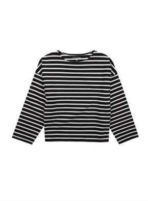 여아) 코튼 스트라이프 티셔츠 (BKP)