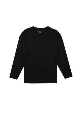 아동) 코튼 베이직 티셔츠 (BK)