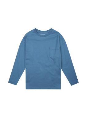 공용) 코튼 베이직 티셔츠 (BL)