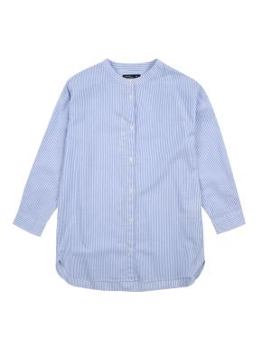 여아) 코튼 스트라이프 셔츠 (BLP)