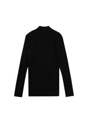 여아) 터틀넥 스웨터 (BK)
