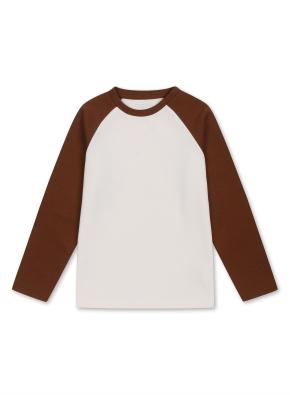남아) 더블니트 티셔츠 (BR)
