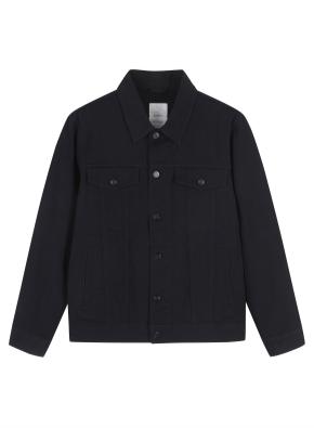 남성) 면 트러커 재킷 (BK)