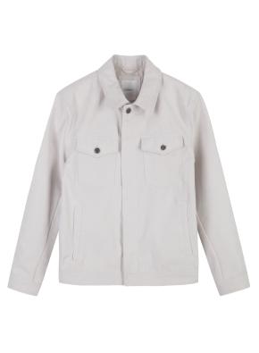 남성) 폴리 스웨이드 트러커 재킷 (IV)