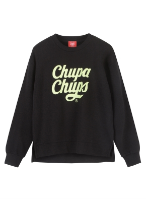 여성) CHUPA CHUPS 맨투맨 (츄파춥스) (BK)