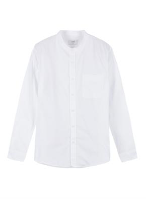 남성) 코튼 옥스포드 밴드카라 긴팔 셔츠