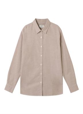 여성) 코튼 옥스포드 오버핏 긴팔 셔츠 (BE)