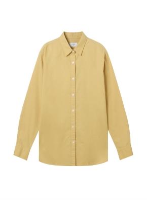 여성) 코튼 옥스포드 오버핏 긴팔 셔츠 (MU)