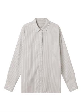 여성) 코튼 옥스포드 오버핏 긴팔 셔츠 (SBE)