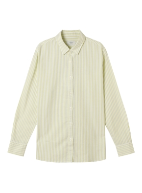 여성) 코튼 옥스포드 오버핏 긴팔 셔츠 (SYE)