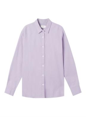 여성) 코튼 옥스포드 오버핏 긴팔 셔츠 (VI)