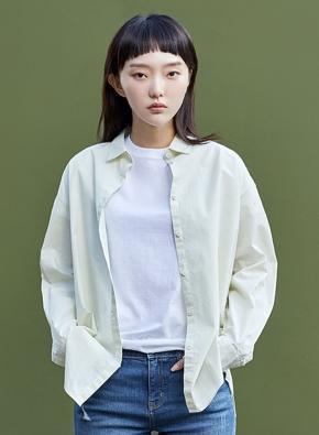 여성) 코튼 포플린 오버핏 긴팔 셔츠