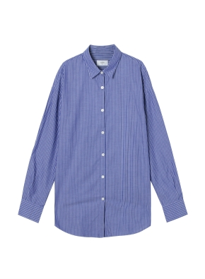 여성) 코튼 포플린 오버핏 긴팔 셔츠 (SNV)