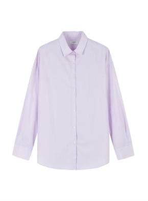 여성) 코튼 포플린 오버핏 긴팔 셔츠 (VI)