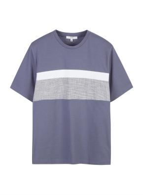 남성) 퀵드라이 폰테 배색 반팔 티셔츠