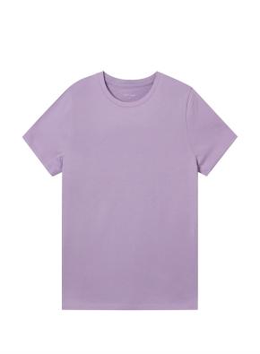 여성) 컴팩트 코튼 크루넥 반팔 티셔츠 (LPP)