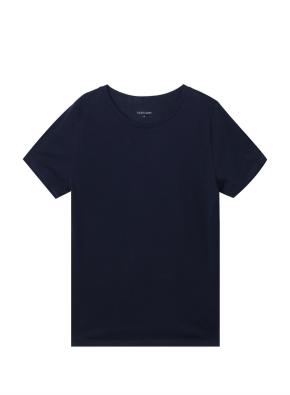 여성) 컴팩트 코튼 크루넥 반팔 티셔츠