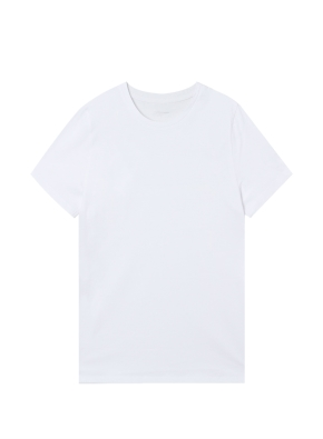 여성) 컴팩트 코튼 크루넥 반팔 티셔츠 (WT)