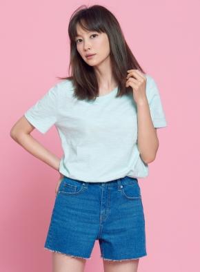 여성) 슬럽 크루넥 반팔 티셔츠 (LMT)