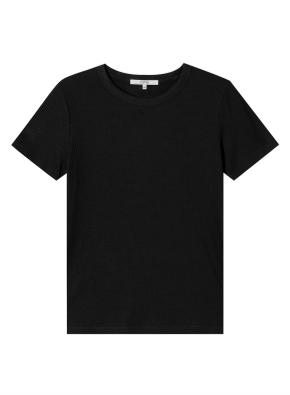 여성) 립 베이직 반팔 티셔츠 (BK)