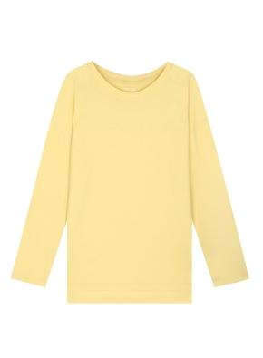 여성) 코튼 텐셀 긴팔 티셔츠 (루즈핏) (YE)