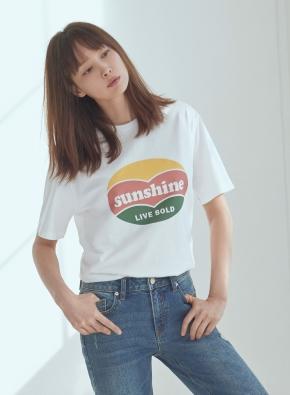 여성) 코튼 레터링 반팔 티셔츠 (WTB)