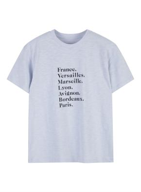 여성) 슬럽 그래픽 반팔 티셔츠 (LBL)