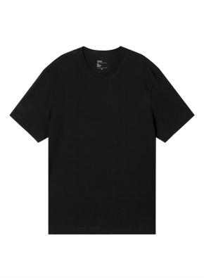 [★BEST] 공용) 컴팩트 코튼 크루넥 반팔 티셔츠 (BK)