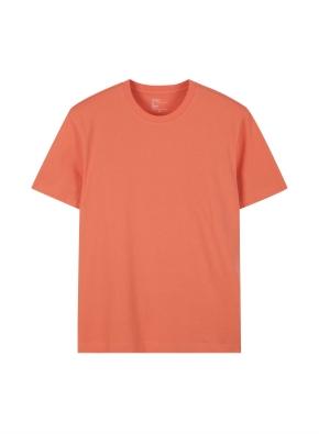 공용) 컴팩트 코튼 크루넥 반팔 티셔츠