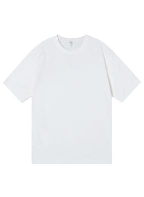 공용) 컴팩트 코튼 반팔 티셔츠 (오버핏)