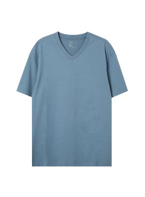 공용) 컴팩트 코튼 브이넥 반팔 티셔츠