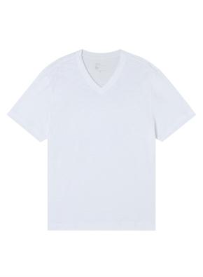 공용) 슬럽 브이넥 반팔 티셔츠