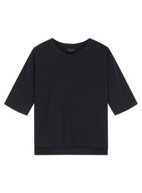 여성) 쿨에어 반팔 티셔츠 (루즈핏) (BK)