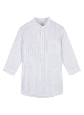 남성) 쿨코튼 밴드카라 반오픈 7부 셔츠