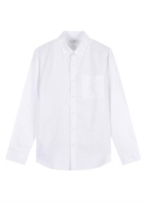 남성) 리넨 코튼 버튼다운 긴팔 셔츠
