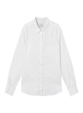 여성) 리넨 코튼 레귤러 카라 긴팔 셔츠 (WT)