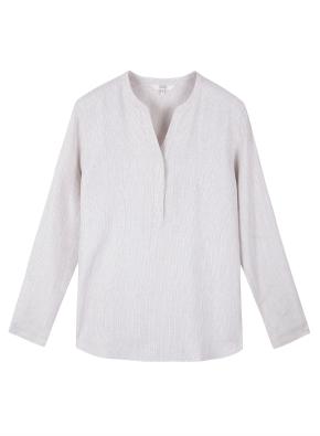 여성) 리넨 튜닉 긴팔 셔츠
