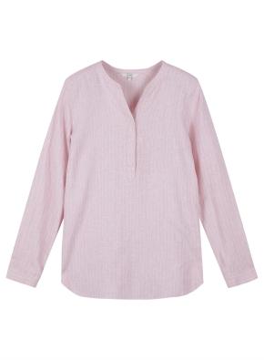 여성) 리넨 튜닉 긴팔 셔츠 (SPI)