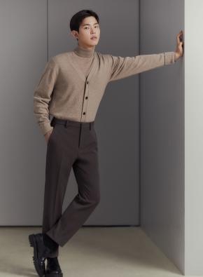 남성) 테이퍼드 사이드밴딩 슬랙스