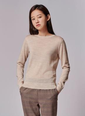 여성) 메리노 울 크루넥 스웨터