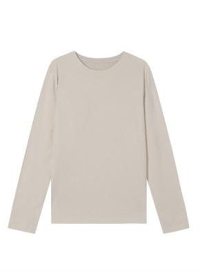여성) 코튼 크루넥 긴팔 티셔츠 (LGR)