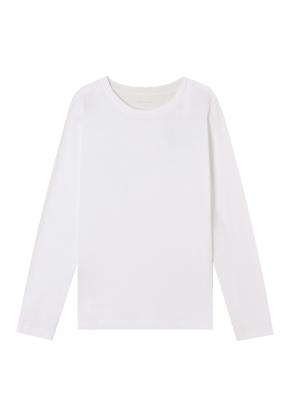 여성) 코튼 크루넥 긴팔 티셔츠
