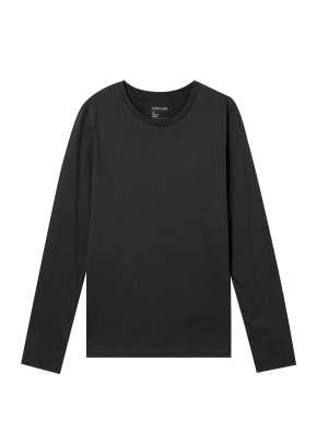 여성) 베이직 긴팔 티셔츠 (BK)