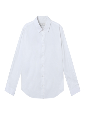 여성) 코튼 스판 긴팔 셔츠 (WT)