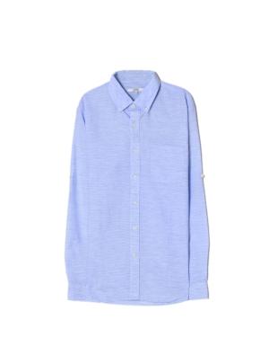 남성) 프리미엄 리넨블렌드 셔츠(BL)