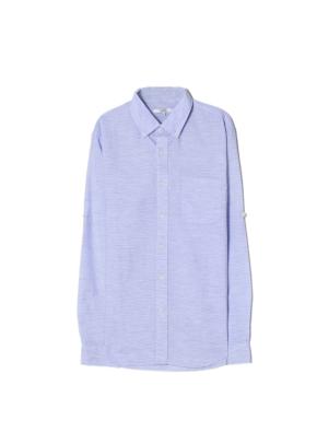남성) 프리미엄 리넨블렌드 셔츠(NV)