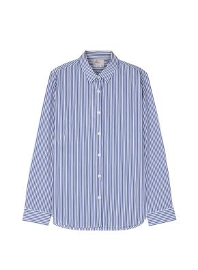 여성) 포플린 와이드 커프스 셔츠(NVP)