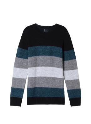 남성) 스트라이프 스웨터(BKP)